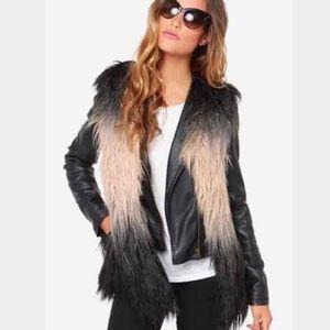 Ombré faux fur vest